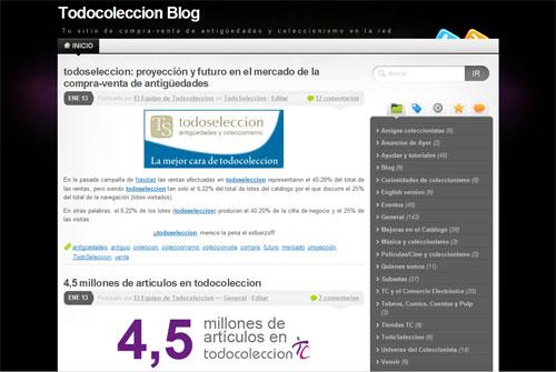 nuevo diseño blog todocoleccion