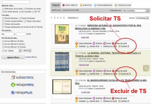 servicios excluir y solicitar en todoseleccion
