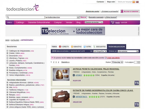 TSeleccion catalogo web todocoleccion
