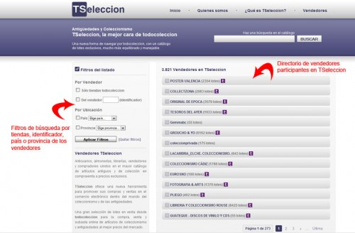 TSeleccion abre nuevos sectores a todocoleccion