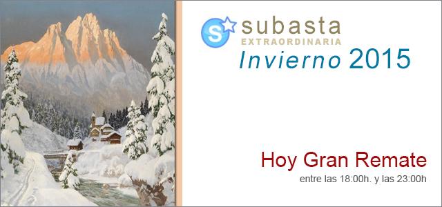 Gran Remate, Subasta Extraordinaria Invierno 2015