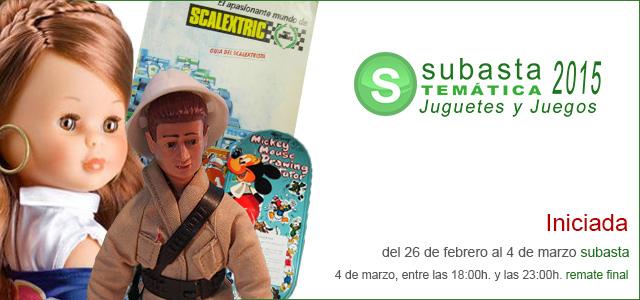 Subasta temática Juguetes y Juegos 2015