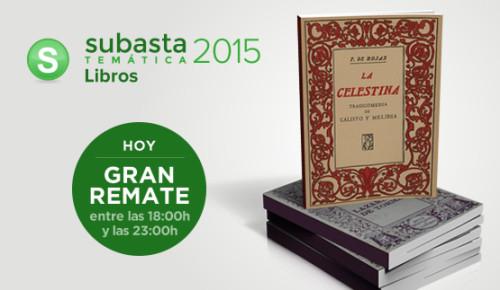 Subasta temática Libros 2015