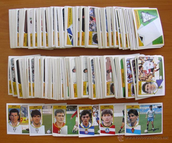 Colección de cromos de fútbol