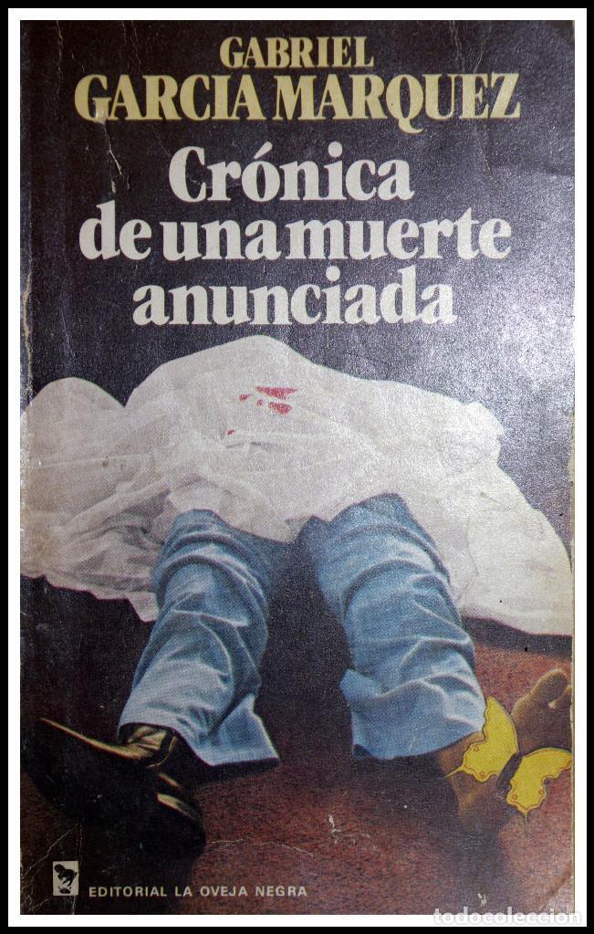Crónica de una muerte anunciada, primera edición de Gabriel García Márquez