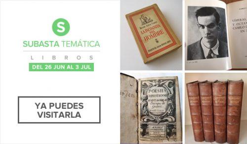 Subasta Temática de Libros 2019, visita
